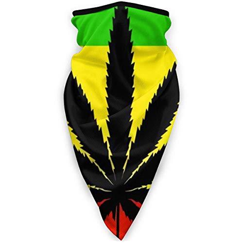 Double Cheese Cannabis Marihuana Hojas Cubierta Facial Bufanda Cuello Polaina Calentador a Prueba de Viento esquí al Aire Libre Cara Cubierta Deportiva Negro