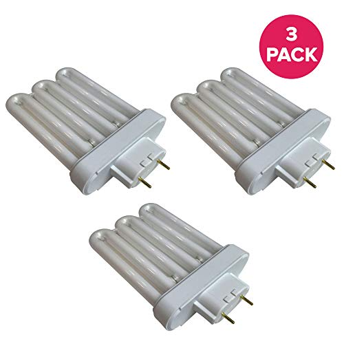 Think Crucial Fluorescent Light Replacements - Compatible with AeroGarden Part # 100633 - Extra Elite, PRO200, 6 Elite+, Deluxe Upgrade Kit & Veggie Pro A Bulb - 6.9' X 4.6' X 2.6' in. (3 Pack)