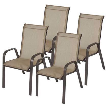 Kit com 4 cadeiras para piscina varanda e jardim