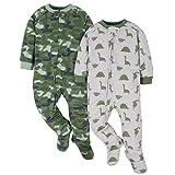 Gerber Baby Boys' 2-Pack Blanket Sleeper, Green Camo & Dino, 3-6 Months