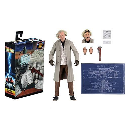 Feilai Action Figure Brown Marty McFly Figura NECA Back To The Future Dr. Brown Articolato Action Figure 7' Modello Anime Personaggio Modello (Colore: Con scatola)