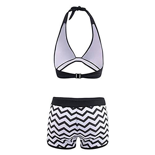 Bikini Mujer Push Up Conjunto Sexy 2019 Mujeres Tankin Bikinis de Dos Piezas con Pantalones Cortos de Surf de niño Traje de baño Acolchado Bohemio BañAdores riou