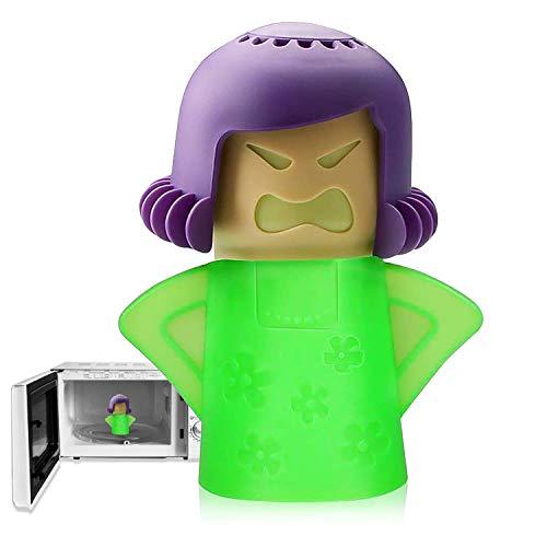 Angry Mama Microonde Cleaner, Forno a microonde Steam Cleaner, Angry Mom Steamer Pulisce facilmente macchie di sporco in pochi minuti, pulisce a vapore e disinfetta con aceto e acqua per la cucina