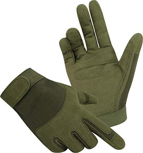 normani Tactical Army Gloves Herrenhandschuhe aus Spezialkunstleder Farbe Oliv Größe S