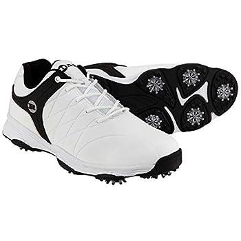 RAM Golf FX Tour Mens Waterproof Golf Shoes - White/Black 9