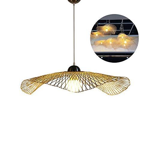 HeartRain Rieten kroonluchter handgeweven rotan bamboe kroonluchter, retro-lantaarn slaapkamer-woonkamer-plafondlamp, E27