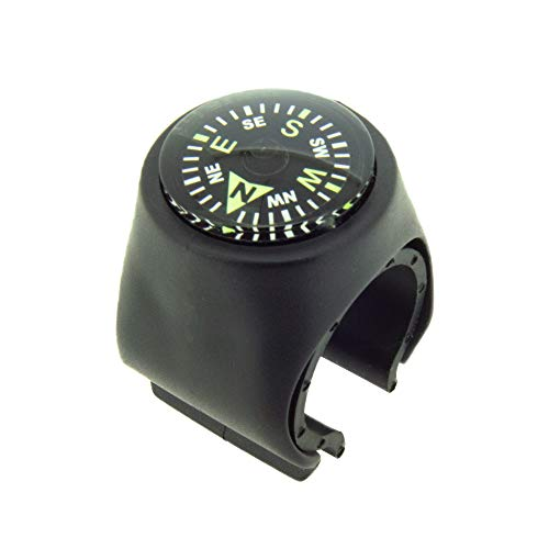 Sun Company Clip-On Compass for Bikes | Handlebar Compass for Bicycle, Motorcycle, ATV, or Snowmobile