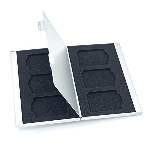ロジック メモリーカードケース アルミ (全4タイプ) SD6枚収納 [両面収納] 大容量 コンパクト スタイリッシュ 保存 管理 整理整頓 シンプル オシャレ 収納 コンパクトフラッシュ SDカード