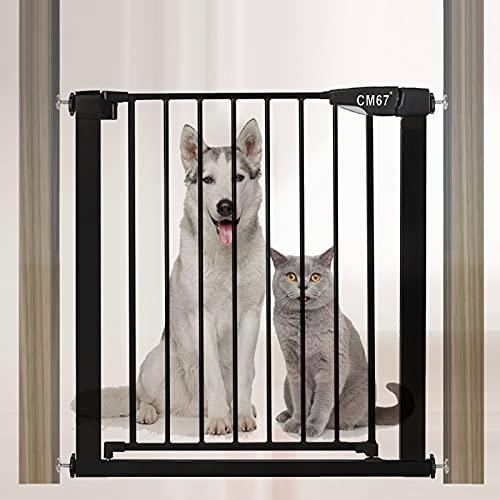 Barrire de Scurit pour Enfants Close N Stop, Barrire Extensible Opration Une Main Porte d'isolement Barrire Pour escaliers et porte Hauteur 76cm Mtal Blanc