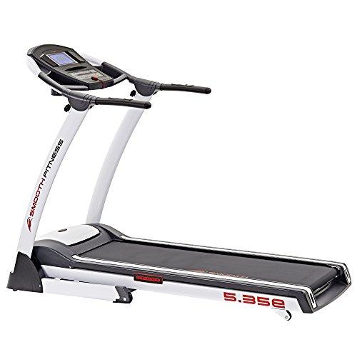 Smooth Fitness 5.35e - Tapis roulant 2,25 PS, 50 x 140 cm, superficie di corsa: 1-18 km/h, QuickChangeTM, 36 programmi