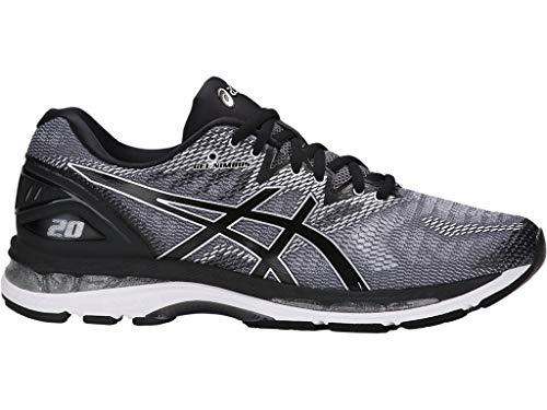 ASICS Men's Gel-Nimbus 20 Running Shoe, Carbon/Black/Silver, 9.5 Medium US