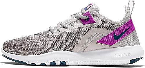 Nike Women's Flex Trainer 9 Cross, Photon Dust/Valerian Blue-Vivid Purple-Light Smoke Grey White, 8.5 Regular US