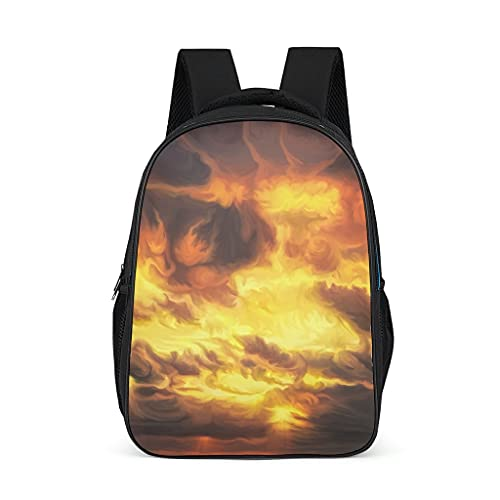 Mochila quema cielo pintura ilustraciones patrón Bookbag impresión 3d Daypack escuela bolsa para hombres mujeres, color, talla Talla única