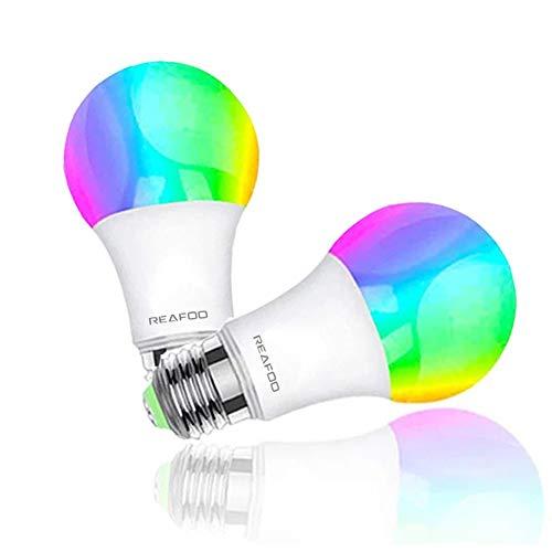 REAFOO Ampoule Connecte WiFi Intelligente 9W 900lm LED Smart Ampoules Compatible Avec Alexa Echo Google Home, Ampoule E27 RGB+W...