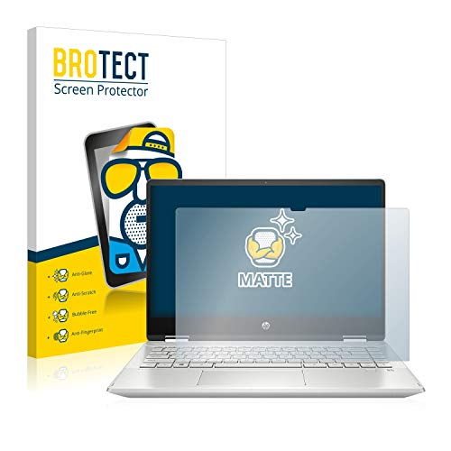 BROTECT Protector Pantalla Anti-Reflejos Compatible con HP Pavilion x360 14-dh1001ns Pelicula Mate Anti-Huellas