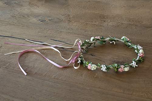 Diadema de comunión de flores ajustable 20 cm