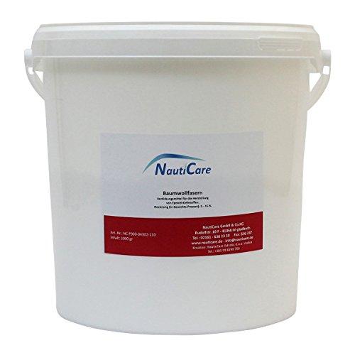 NautiCare Baumwollfasern | 1kg | Verdickungsmittel Füllstoff für Harz