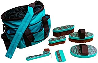 Shiloh Showman Grooming Tote Bag with Shoulder Strap and Six Outer Pockets Navajo Print