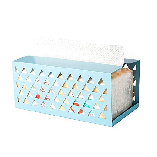 Dispensador de Papel higiénico para baño, Dormitorio o Cocina, Hierro, Funda para servilletas Kleenex, dispensador de pañuelos faciales para decoración del hogar, Oficina, Coche 20.5 * 11 * 9 cm