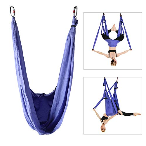Review hongxinq Anti-Gravity Aerial Yoga Fitness Hanging Grip Inversion Trapeze Sling Hammock