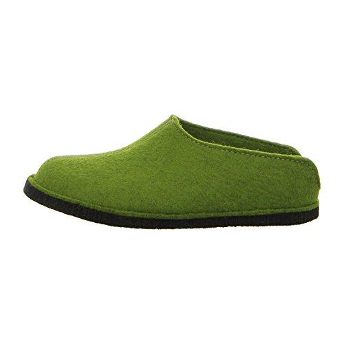 Haflinger Flair Smily, Pantoffeln, Unisex-Erwachsene, Filz aus reiner Wolle, Grün (Grasgrün 36), 48 EU