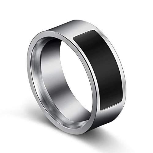 PULABO Schwarz Größe 6 NFC Multifunktionale wasserdichte intelligente Ring Smart Wear Finger Digital Ring Kreativ und nützlich reizend