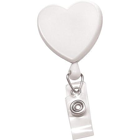 Conversation heart badge reels for work or school.