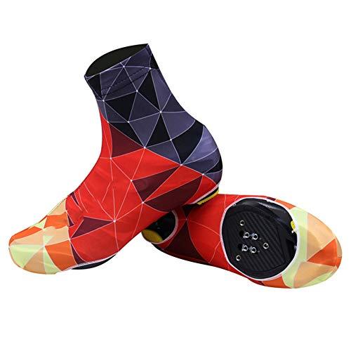 Cubrezapatillas de Ciclismo Verano, Cubrezapatos de Ciclismo a Prueba de Viento para Hombre, Zapatos con Bloqueo de Bicicleta MTB Cubrebotas Accesorios de Ciclismo,G,XL