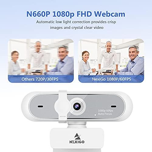 NexiGo Webcam weiß - 60fps 1080p (Full-HD) - N660