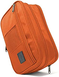 K-25 Toiletry Bag 2-in-1 sizes compression bag expendable bag (Orange/Gray)