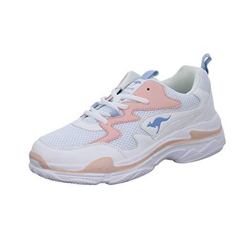KangaROOS Damen Wave Sneaker, Rot (Frost Pink/White 6159), 39 EU