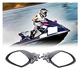 Espejos traseros de motocicleta Accesorios Motor Convexo Lateral Accesorios Automóviles ABS Boat Retroview Espejo Jet Ski Mirror Fit For Yamaha Pwc Waverunner VX 110 Deluxe Lateral De Lujo Vista Trase