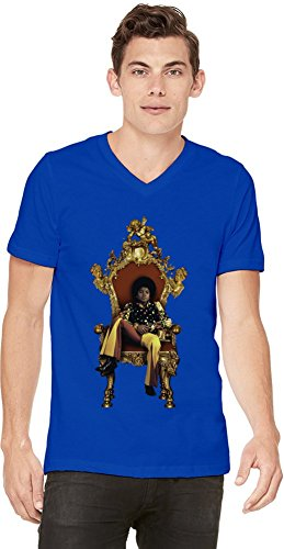 Michael Jackson Young King Of Pop Mens V-neck T-shirt X-Large