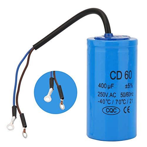 Condensador 250V 400uf para motor de arranque, Condensador de marcha de compresor de aire, para puesta en marcha de motores monofásicos con frecuencia de 50Hz y 60Hz