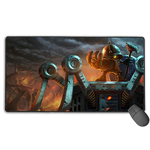 Waterproof Mouse Mat for League Legends veigar baronvon, Computer Keyboard Mouse Mat Stitched Edges for PC Computer Laptop 11.8x31.5 in(30cm X 80cm)