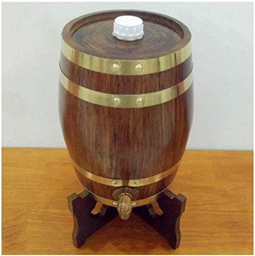 HAIRCUTCLOAKJ 5L Vintage Eichenfass, Eiche Lagertank, Eingebauter Aluminiumfolie-Liner, passend für Dein eigenes Bier Weißwein Brandy Tequila Praktisch und langlebig