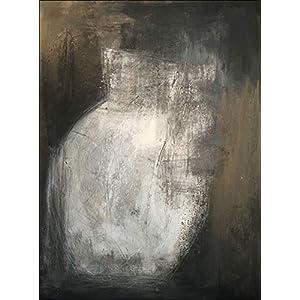 Abstraktes Bild auf Leinwand gespannt, Der Krug, modernes Bild in schwarzweiss, Bild 80 x 60cm, Acrylbild abstrakt, Bild…