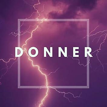 Donner: Blitz und Donner Geräusche, Entspannungsmusik mit Regen