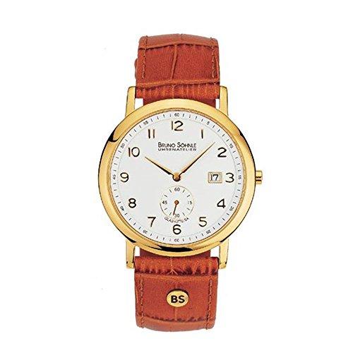 Bruno Söhnle Herren Analog Quarz Uhr mit Leder Armband 17-33036-921
