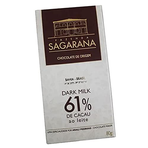 Chocolate Amargo 61% Cacau Fazenda Sagarana 80g