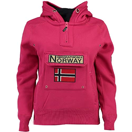 Geographical Norway Sudadera GYMCLASS DE NIÑO Y NIÑA Unisex Fucsia Talla 14