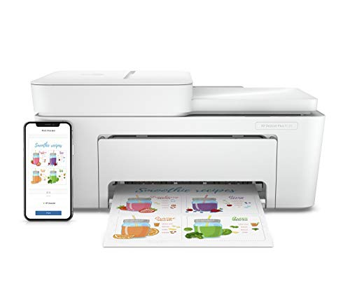 HP DeskJet Plus 4120 Multifunktionsdrucker (Instant Ink, Drucker, Kopierer, Scanner, Fax, WLAN, Airprint) inklusive 3 Monate Instant Ink