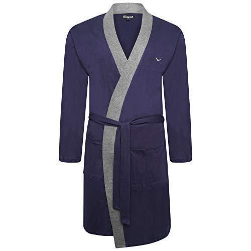 Best Deals Direct UK Insignia Hombre Batas Lighweight Algodón Jersey Vestidos - Azul Borde, M