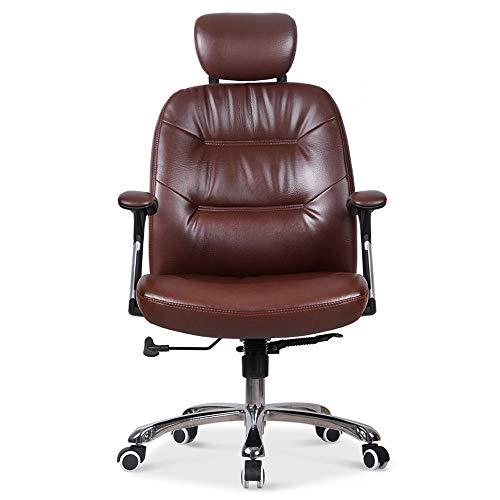 Sedia del manager Indietro Sedia da ufficio del computer in cuoio sintetico a metà schiena, design ergonomico, altezza seduta regolabile, girevole a 360 gradi Sedia di studio regolabile di altezza