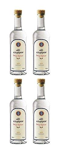 Spar Set: 4 Flaschen Ouzo Plomari 0,2-Liter ( 4 x 0,2-Liter )