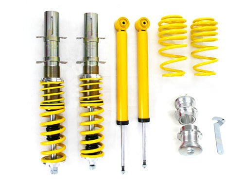 PROMOTORING For RSK Street Coilover Kit - VW MK4 Golf/GTI/Jetta/Beetle - Yellow (1999 2000 2001 2002 2003 2004 2005)