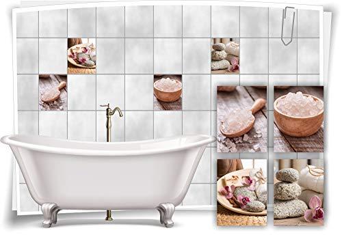 Medianlux Adhesivo decorativo para azulejos, diseño de orquídea, 20 x 25 cm, fp5p511h-134976
