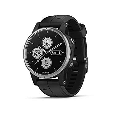 Garmin fenix 5S Plus Multisport GPS Watch (Silver with Black Band)