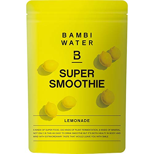 バンビウォーター スーパースムージー(レモネード味) 200g スーパーフード配合!低カロリーのレアシュガーで甘いグリームスムージ- 酵素・グルコマンナン・食物繊維も入った置き換えダイエット ※旧デザインと混在する可能性があります