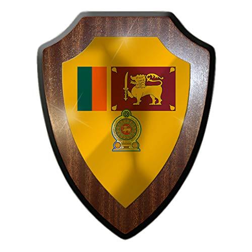 Sri Lanka Sinhala Republik Inselstaat Fahne Flagge Wappen Wandschild #27285
